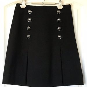 Etcetera Black Pleated Button Skirt